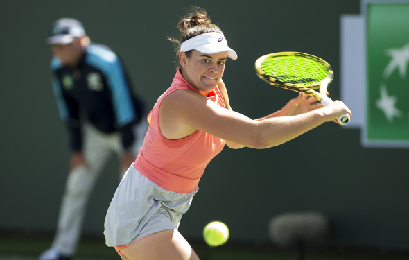 March 8, 2019: Jennifer Brady (USA) defeated Caroline Garcia (ESP) 6-3, 3-6, 6-0 at the BNP Paribas Open at the Indian Wells Tennis Garden in Indian Wells, California. ©Mal Taam/TennisClix/CSM