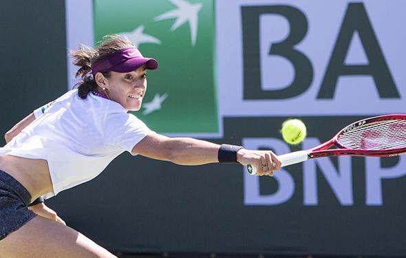 March 8, 2019: Jennifer Brady (USA) defeated Caroline Garcia (ESP) 6-3, 3-6, 6-0 at the BNP Paribas Open at the Indian Wells Tennis Garden in Indian Wells, California. ©Mal Taam/TennisClix/CSM