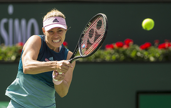 March 9, 2019: Angelique Kerber (GER) defeated Yulia Putintseva (KAZ) 6-0, 6-2 at the BNP Paribas Open at the Indian Wells Tennis Garden in Indian Wells, California. ©Mal Taam/TennisClix/CSM