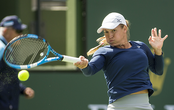 March 9, 2019: Yulia Putintseva (KAZ) was defeated by Angelique Kerber (GER) 6-0, 6-2 at the BNP Paribas Open at the Indian Wells Tennis Garden in Indian Wells, California. ©Mal Taam/TennisClix/CSM