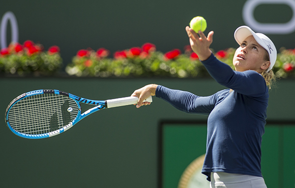 March 9, 2019: Yulia Putintseva (KAZ) was defeated by Angelique Kerber (GER) 6-0, 6-2 at the BNP Paribas Open at the Indian Wells Tennis Garden in Indian Wells, California. ©Mal Taam/TennisClix/CSM