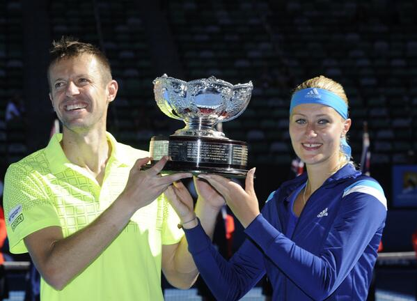 Picture of the day: Daniel Nestor and Kristina Mladenovic win Aussie mixed