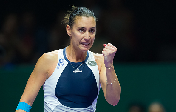 Flavia Pennetta wants to stick around a little bit longer. Jimmie48 Tennis Photography